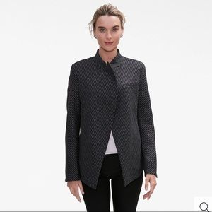 MM Lafleur The Oliver Jacket—Etch Stripe Wool Grey